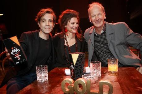 De gauche à droite: Charles Nilles (Comed), Nathalie Reuter (RTL) et Claude Muller (Comed) lors des Media Awards 2018. (Photo: Maison moderne / archives)