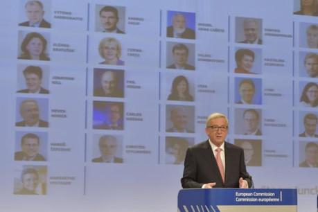 Jean-Claude Juncker a présenté son collège de commissaires ce mercredi midi. (Photo: Commission Européenne)