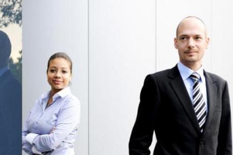 Sébastien Pineau, avec Cindy Guerlain (CRP Henri Tudor) (Photo : David Laurent/Wide)