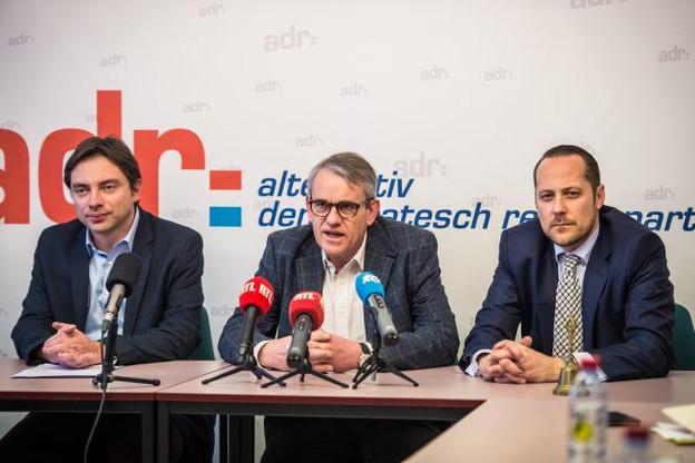 Fred Keup (Wee2050), Jean Schoos (président de l'ADR) et Alex Penning (secrétaire général de l'ADR). (Photo: Mike Zenari)