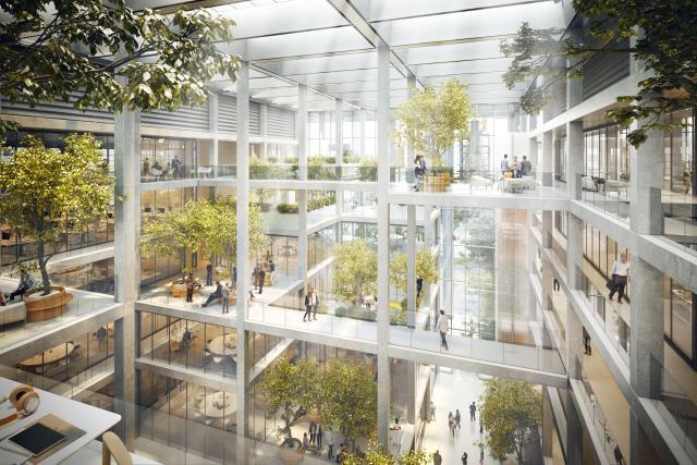 L'immeuble de Foster + Partners à Belval joue avec la transparence. (Illustration: Foster + Partners)