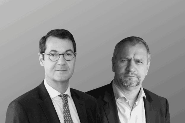 Bruno Colmant, head of macro research chez Degroof Petercam Bruxelles, et Laurent Kratz, CEO de Neofacto. (photo: paperJam)