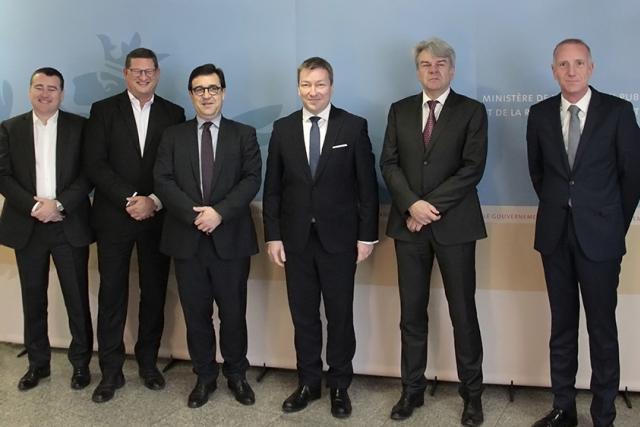 Première entrevue entre le ministre Marc Hansen et les représentants de la CGFP. (Photo: MFP)