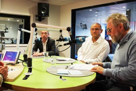 Frank Engel, Victor Weitzel et Jean-Claude Reding étaient ce week-end les invités de 100,7, dans Riicht eraus. (Photo: 100