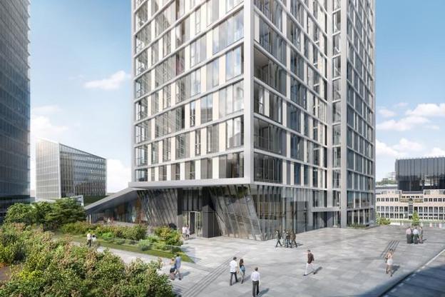 La configuration choisie pour le concept Infinity au Kirchberg représente l'une des pistes d'avenir pour le logement au Luxembourg. (Photo: Immobel Luxembourg)