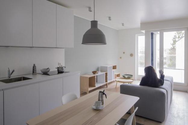 Dans le quartier du Limpertsberg à Luxembourg-ville, cet appartement a été aménagé par EL'LE en vue d'un investissement locatif. (Photos: Éric Chenal)