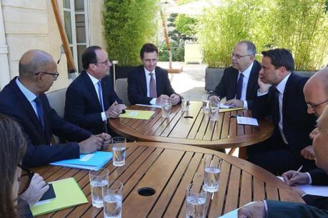 Les contacts se multiplient en prélude au sommet du 16 septembre. Les voix françaises et allemandes seront forcément écoutées avec attention. (Photo: présidence de la République Française/J.Bonet)
