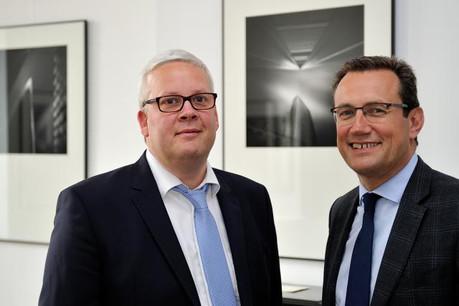Jean-Guy Roche (RGroupe) et Pierre Focant (Systemat). (Photo: Dominique Gaul)