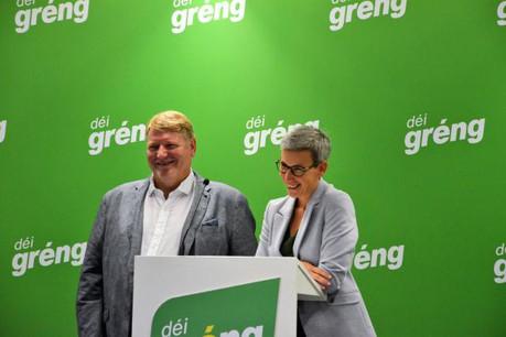 Déi Gréng (ici, le président Christian Kmiotek et la députée Sam Tanson) veut que l'art soit accessible à tous en tant que vecteur de développement personnel. (Photo: Déi Gréng / Facebook)