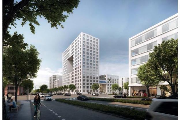 Le futur siège s'étendra le long du boulevard Raiffeisen. (Photo: Grossfeld PAP)
