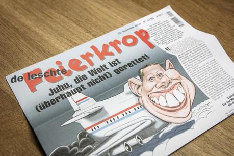 La une du dernier numéro du Feierkrop, sorti aujourd'hui. (Photo: Patricia Pitsch / Maison Moderne)