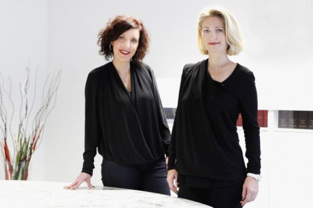 Sophie Pierini et Brigitte Pochon (PL&A) (Photo : Oliver Minaire)
