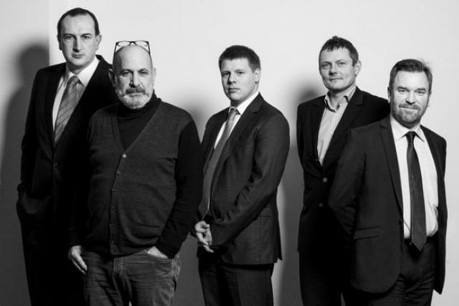 Éric Groenendaels, Bruno Scaramuzzino, Gilles Feipel, Emmanuel Fleig et Luc Bolsius (Photo: Julien Becker)