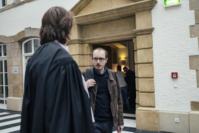 La défense d'Antoine Deltour a demandé l'acquittement ou tout au plus une suspension de peine au tribunal. (Photo: Maison Moderne)