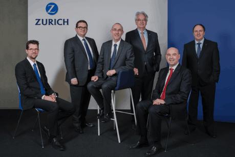 Le conseil d'administration de Zurich Eurolife: Philipp Resch (secrétaire), Xavier Nevez, Ian Veitch, Jean-Michel Loehr, Éric Müller-Borle et Clive Baker. (Photo: Zurich Eurolife)