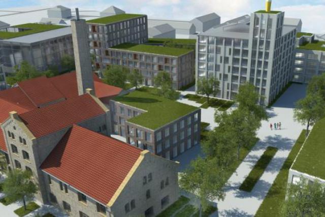 Le projet, conçu par le bureau d'architecte Beiler & François, comprendra 322 ou 200 unités d'habitation. (Illustration : Beiler-François architectes)