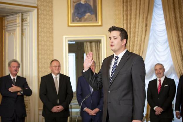 Échevin à 27 ans, député à 29, puis ministre à 34 ans. (Photo: Patricia Pitsch/Maison Moderne)