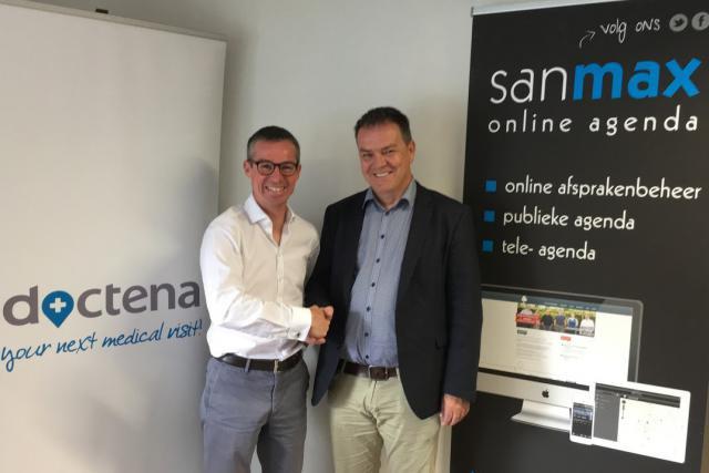 Patrick Kersten, CEO de Doctena, et le fondateur de Sanmax, Pascal D'Helft. (Photo: Doctena)