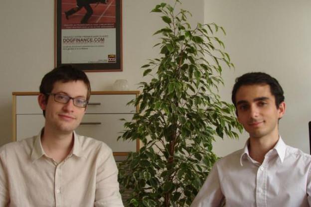 Sébastien Guichard (à droite, avec Alexandre Branche) : « Nous voulons poursuivre le développement international » (Photo: Dogfinance)