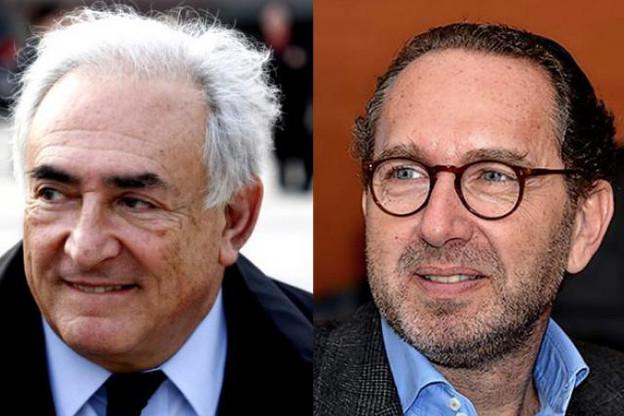 Thierry Leyne (à droite), associé à Dominique Strauss-Kahn, cela donne LSK. (Photo: Wordpress / archives paperJam)