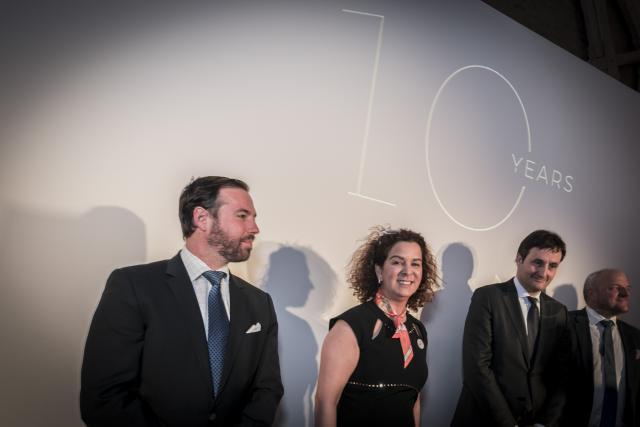 Amal Choury s'est adressée «avec le cœur» à ceux qui sont venus fêter cet anniversaire et a rappelé sa chance d'être bien entourée. (Photo: Simon Cabrejo / Grand format)