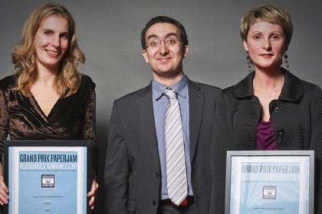 Diane Baertz-Kaufmann (Cetrel), Loïc Saint-Ghislain  et Karine Pontet (Deloitte Luxembourg) (Photo: Etienne Delorme)