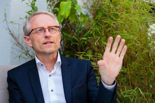 Thierry Geerts, CEO de Google Belux, laisse encore planer le suspens quant au terrain acheté à Bissen. (Photo: Matic Zorman)