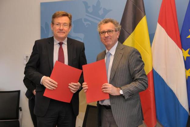 Les ministres des Finances belge et luxembourgeois s'étaient rencontrés le 16 mars dernier à Luxembourg pour une réunion de travail. (Photo: ministère des Finances)