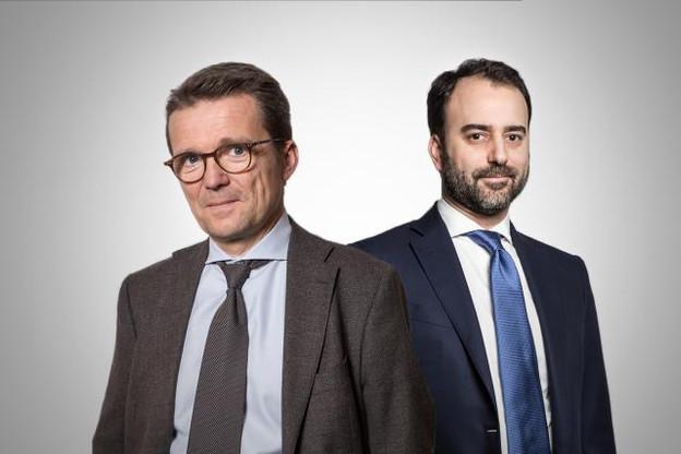 Philippe Depoorter (Banque de Luxembourg) et Hélie de Cornois (Degroof Petercam) évoquent l'étape cruciale de la transmission et la reprise d'entreprise. (Photos : Maison Moderne)