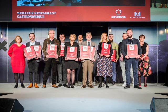 2.000 personnes ont élu leur restaurant préféré dans 11 catégories différentes pour cette édition du Prix du Public d'Explorator. (Photo: Maison Moderne)