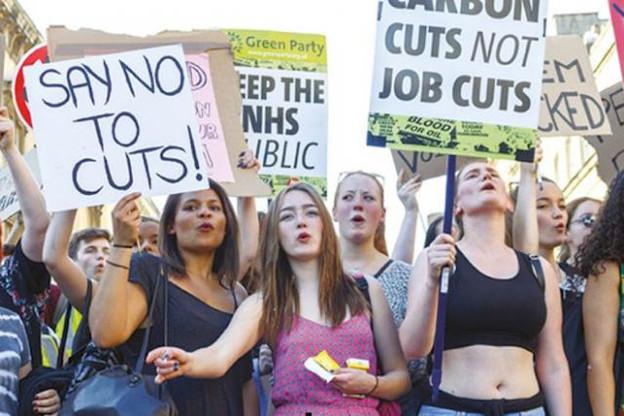 Bien avant l'élection de Corbyn, les mouvements sociaux britanniques étaient demandeurs d'une politique en faveur de la transition énergétique et plus juste socialement. (Photo: John Lynch/Demotix)