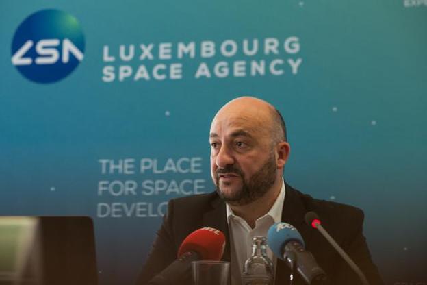 Étienne Schneider (ici lors de la présentation de sociétés actives dans le secteur spatial) semble convaincre en interne par son audace, puisqu'il a été reconduit par les cadres du parti comme chef de file pour les législatives. (Photo: Matic Zorman / archives)