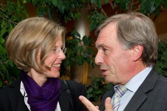 Jeannot Krecké avec Ariane Eberwein: «Laisser les entreprises utiliser ce qui est utilisable» (Photo:Charles Caratini)