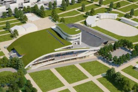 Projet du futur bâtiment central qui sera le cœur du centre de congrès. (Photo: Exhibitions & Congress Libramont)