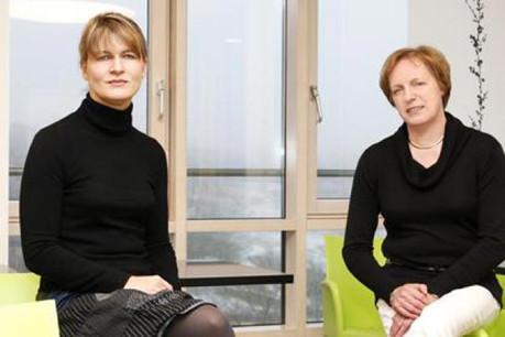Stéphanie Blaise et Béatrice Pettiaux (Clinique Privée Dr E. Bohler). (Photo: Olivier Minaire)