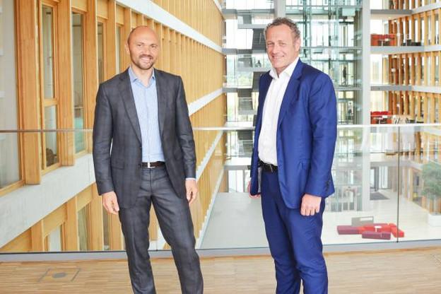 Vincent Villers et Laurent Probst (PwC Luxembourg) ont porté le projet au Grand-Duché. (Photo: PwC)