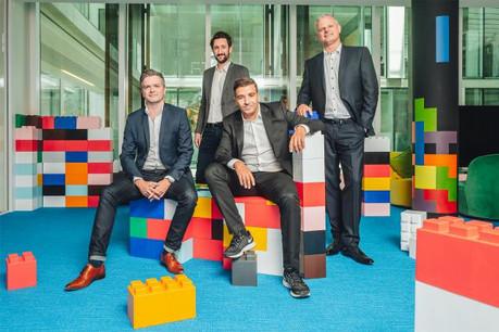 De gauche à droite: Marton Fulop (COO de Docler Holding), Kamel Amroune (CEO de Farvest), Fabien Amoretti (fondateur de Farvest) et Karoly Papp (CEO de Docler Holding). (Photo: DR)