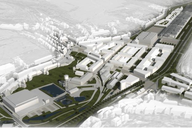 Le futur écoquartier de Neischmelz, à Dudelange, doit permettre la création d'un millier d'unités d'habitation, mais aussi de commerces et d'espaces verts, pour accueillir, à l'horizon2030, quelque 2.300 nouveaux habitants. (Crédit: CBA)
