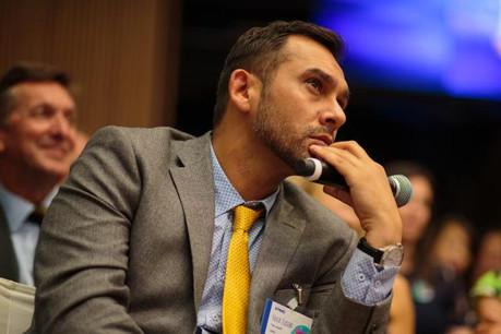 Nasir Zubairi, CEO de la Lhoft, se réjouit d'avoir réuni des acteurs de ce niveau autour du projetFin5lab. (Photo: Matic Zorman / archives)