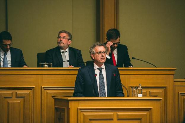Pierre Gramegna rappelle au passage l'opposition face à sa responsabilité de ne pas avoir créé le fonds plus tôt. (Photo: Sven Becker)
