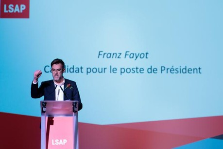 Franz Fayot a obtenu 88% des suffrages. (Photo: Matic Zorman)