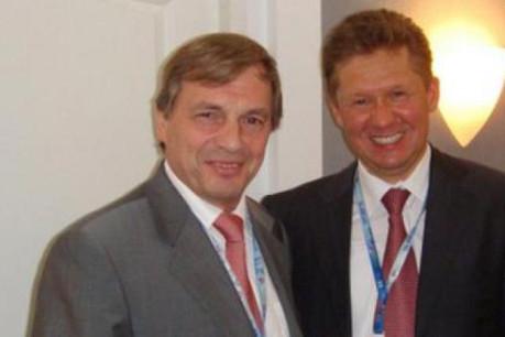 Le ministre de l'Economie, Jeannot Krecké, et le directeur général de Gazprom, Alexei Miller, lors d'une rencontre en juin 2008. (Photo: ministère de l'Economie)
