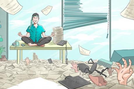 Le rôle du manager est central pour diminuer le stress négatif dans son équipe. (Illustration: D.R.)