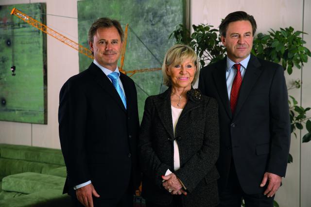 Jeanny Giorgetti entourée de ses fils, Marc et Paul Giorgetti. (Photo: Félix Giorgetti)