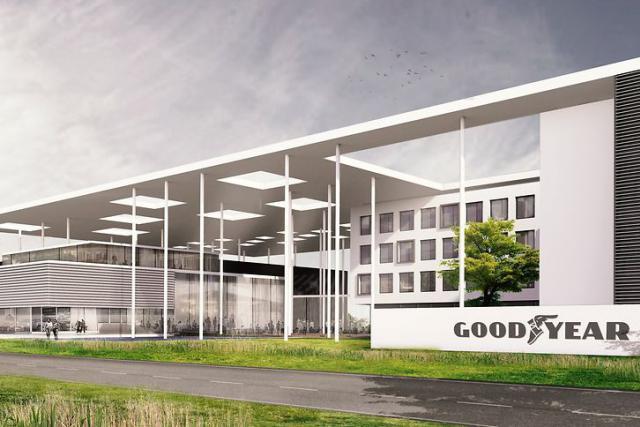Le futur centre d'innovation mondial de Goodyear sera le lieu de travail de quelque 1.100 collaborateurs du groupe américain. © Image by Assar Architects