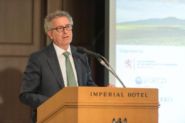 Pierre Gramegna lors de son intervention ce 29 novembre au Japon, dans le cadre de la visite d'État emmenée par le Grand-Duc. (Photo: SIP - Jean-Christophe Verhaegen)