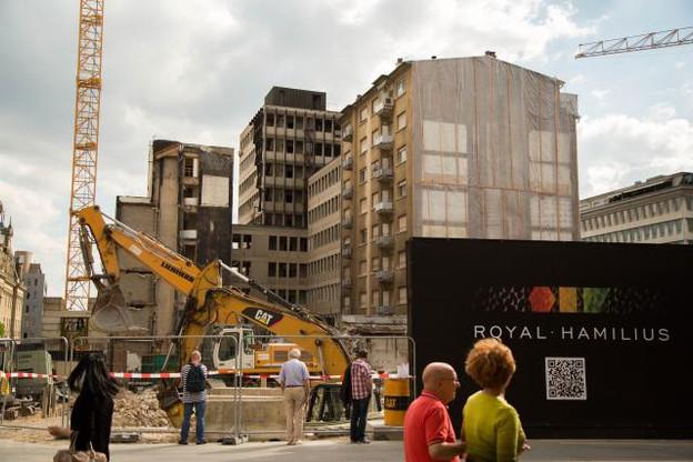 Le projet Royal-Hamilius doit officiellement prendre fin en 2019. (Photo: Paperjam/DR)