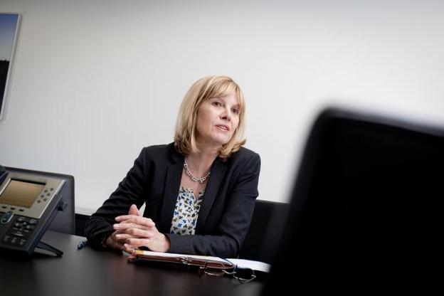 Yvette Hamilus, liquidatrice de Landsbanki, règle ses comptes avec le juge français et avec les magistrats de la Cour d'appel.  (photo: Jessica Theis / archives)