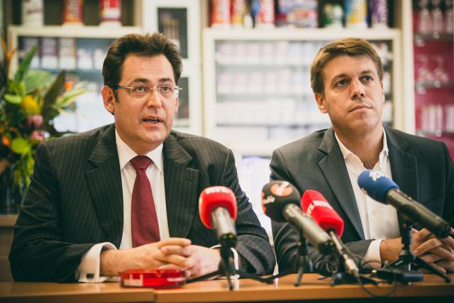 Christian Greiveldinger, directeur général et Georges Krombach, directeur marketing international ont présenté le nouveau projet industriel à la presse. (Photo: Sven Becker )