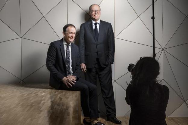 Pit Hentgen et François Pauly sous le feu des projecteurs. (Photo: Maison Moderne)